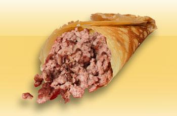 Блинчики с мясом и луком (свинина)